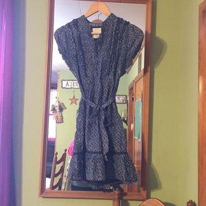 Tiny blue retro style dress